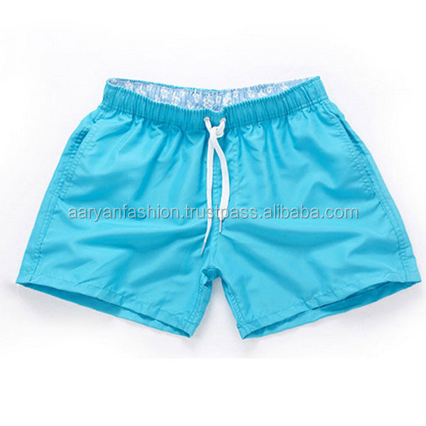 Drawstring Waistband Mesh lining Mens Swim Shorts