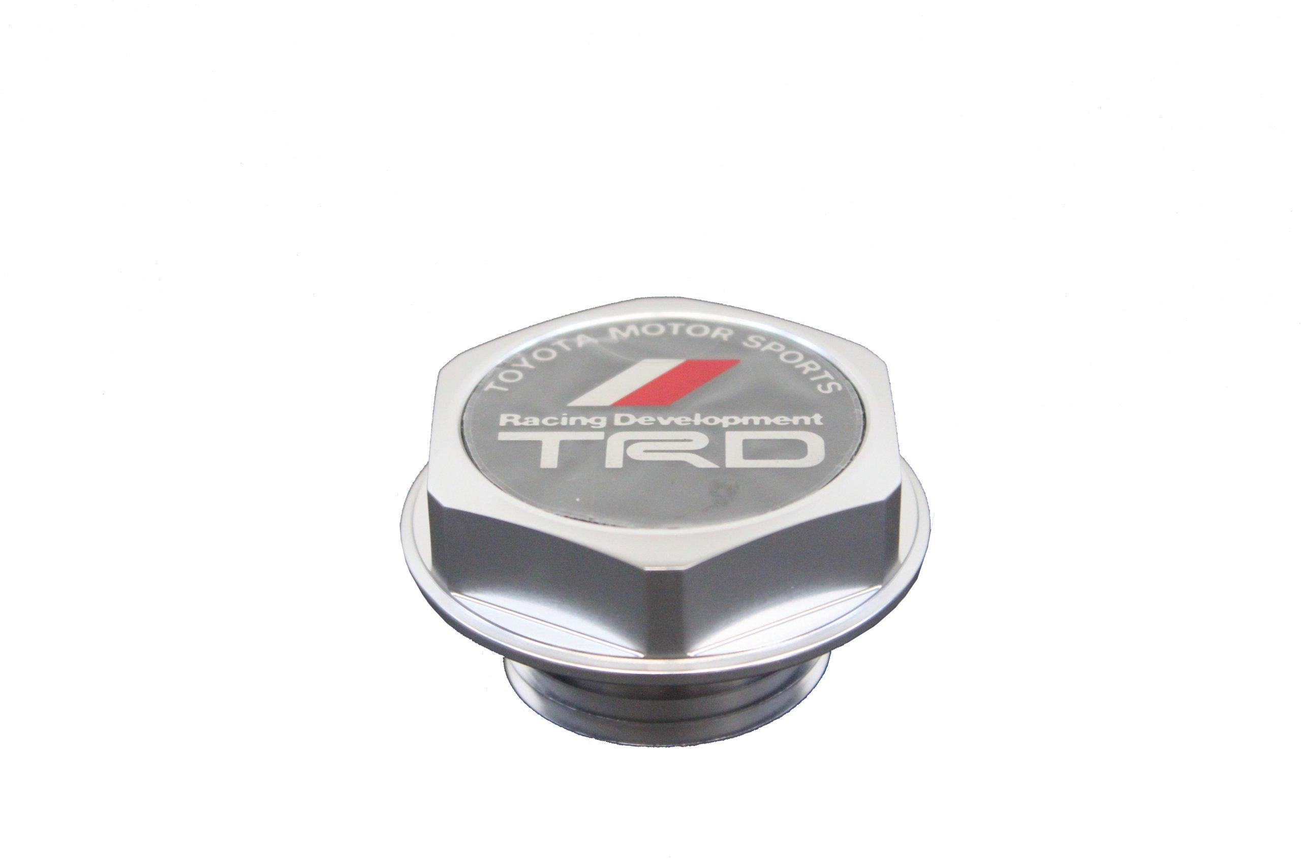 Genuine Toyota TRD Performance Oil Cap Polished Billet Aluminium PTR35-00110