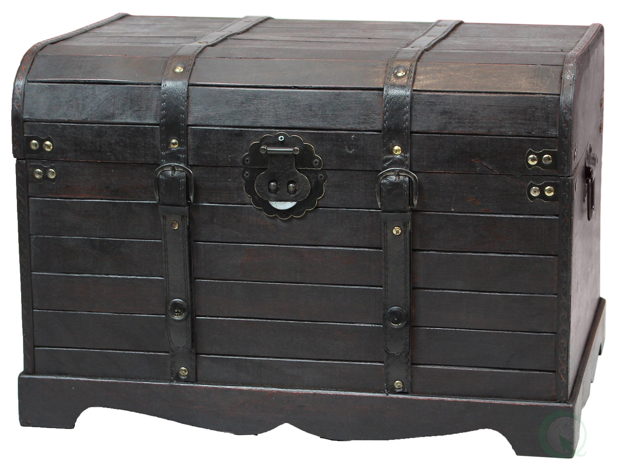 Wondrous Buy Antique Style Black Wooden Steamer Trunk Coffee Table Evergreenethics Interior Chair Design Evergreenethicsorg