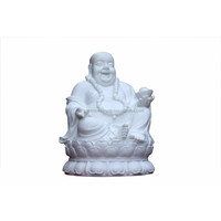Exclusive resin designer white Laughing Buddha for home decor handicraft