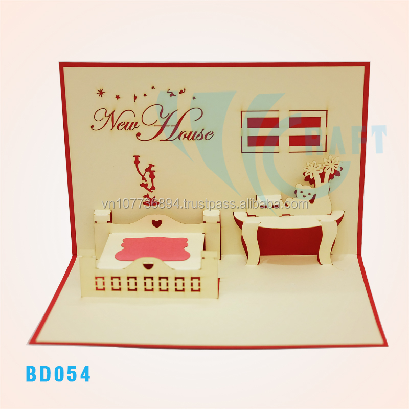 New house card building handmade vietnam buy 3d popup card new house card building handmade vietnam buy 3d popup card buildingpop up card handmade vietnampop up 3d card product on alibaba m4hsunfo