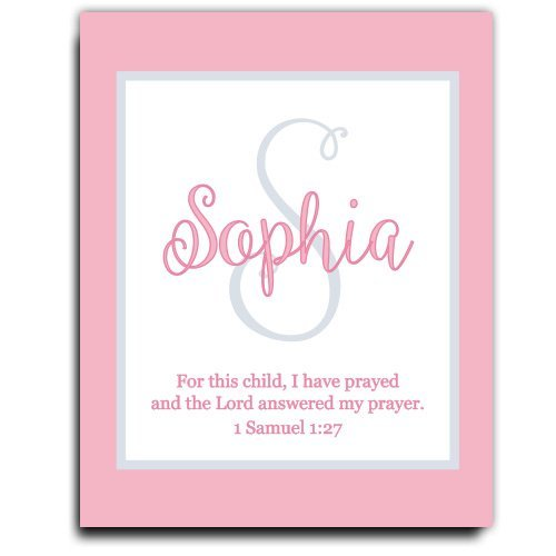 33ac1452d Get Quotations · Girls Bible Verse Paper Art Print | Girl Monogram | Baby  Girl Gift | Personalized Baptism
