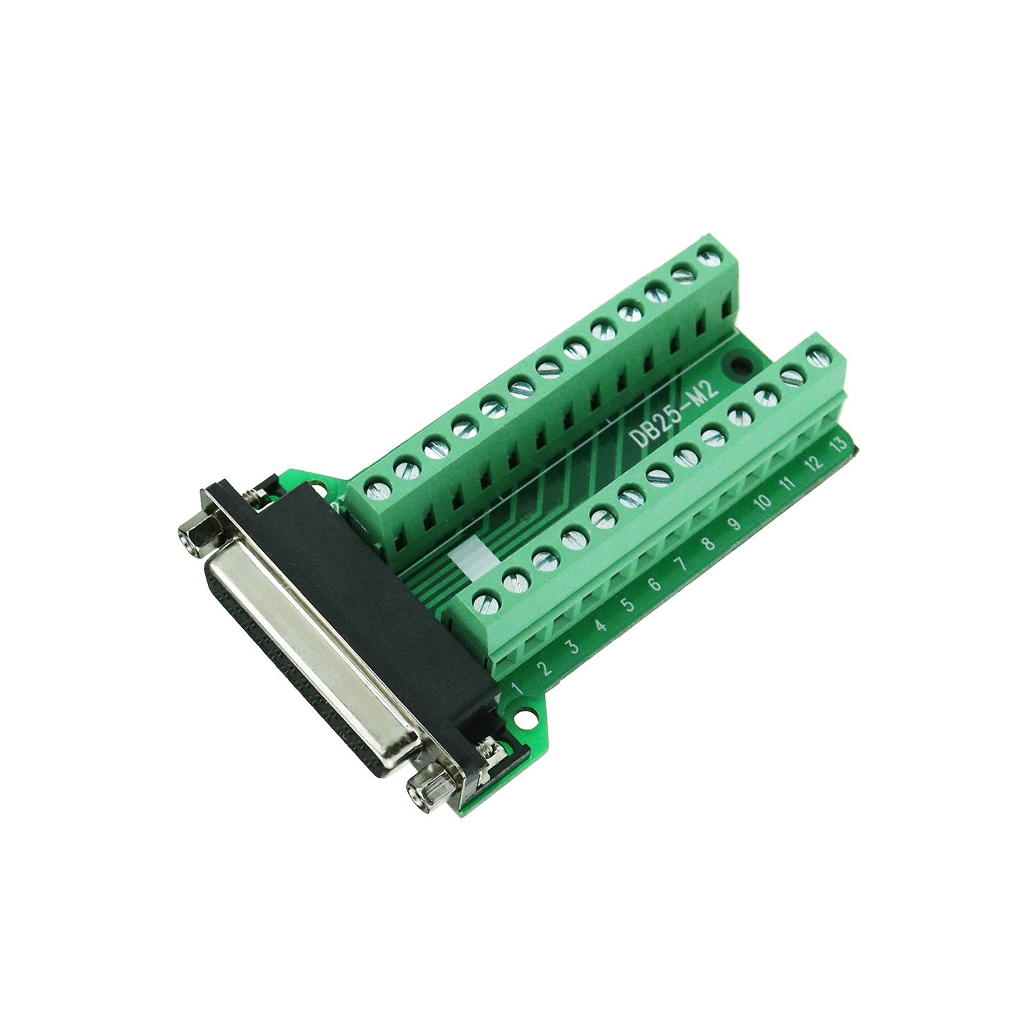 Connector Db25 D-sub Female Plug 25-pin Port Terminal Breakout PCB Board