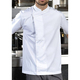 Easy wearing pull-on short sleeve chef's tunic