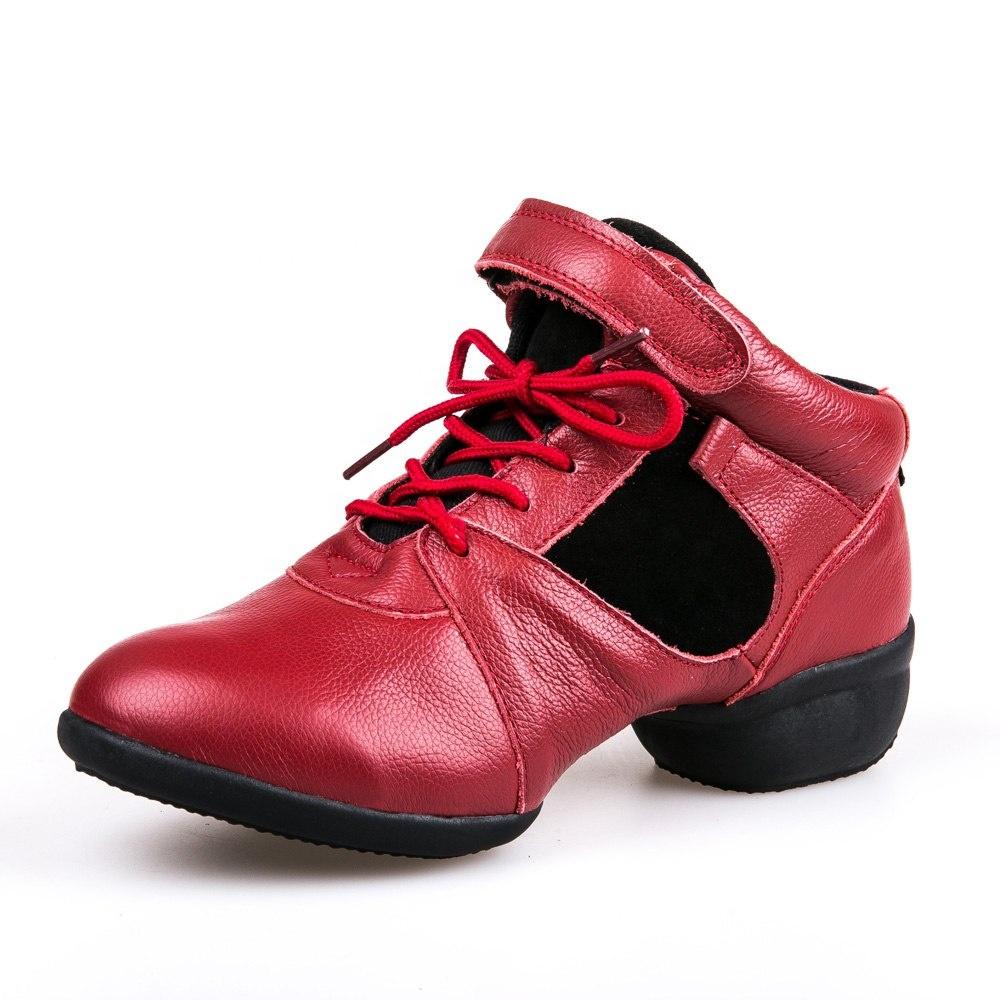 Leder Jazz Schuhe, Stiefel, weichen Sohlen, Jazz, Ballett