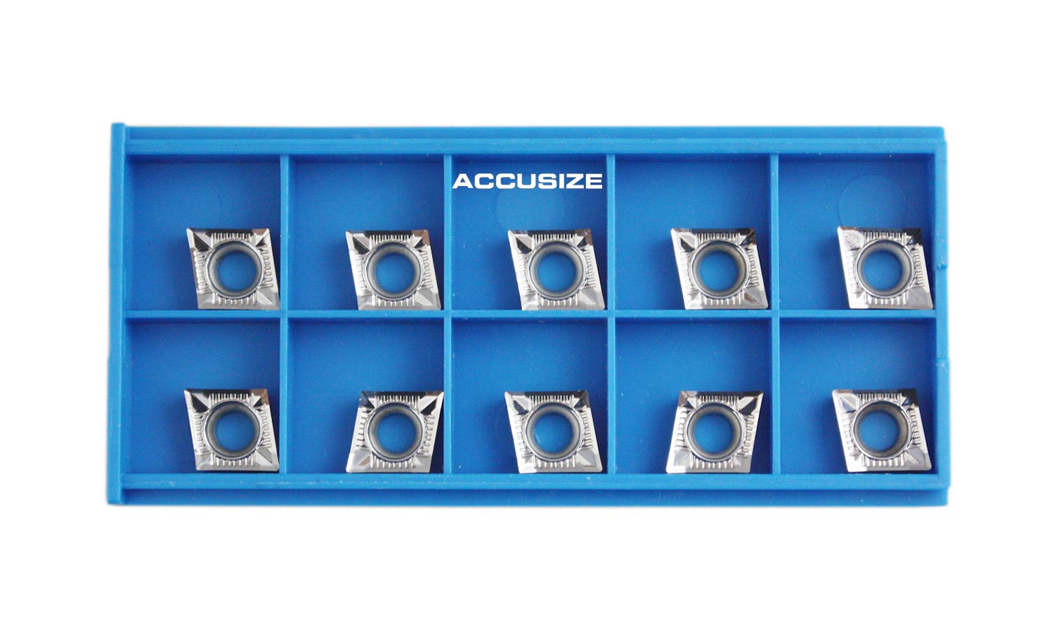 "Accusize Tools - 10 Pcs CCGT09T304-AK for Aluminum, 0.015"" carbide inserts, #AKH01x10"