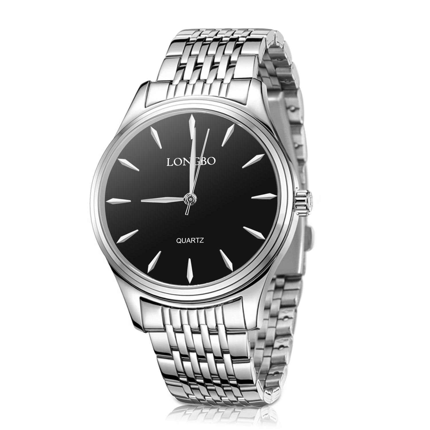 XINYIXING Mens Womens Watches,Couple Stainless Steel Quartz Waterproof Watch for Ladies and Men,Fashion Dress Business Casual Couple Wrist Watches(Women/Men)