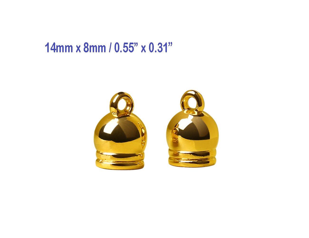 100 Pcs Tassels Accessories Charms Pendant, Tassels Tops, Tassels Caps Jewelry Findings #1546 (Gold)