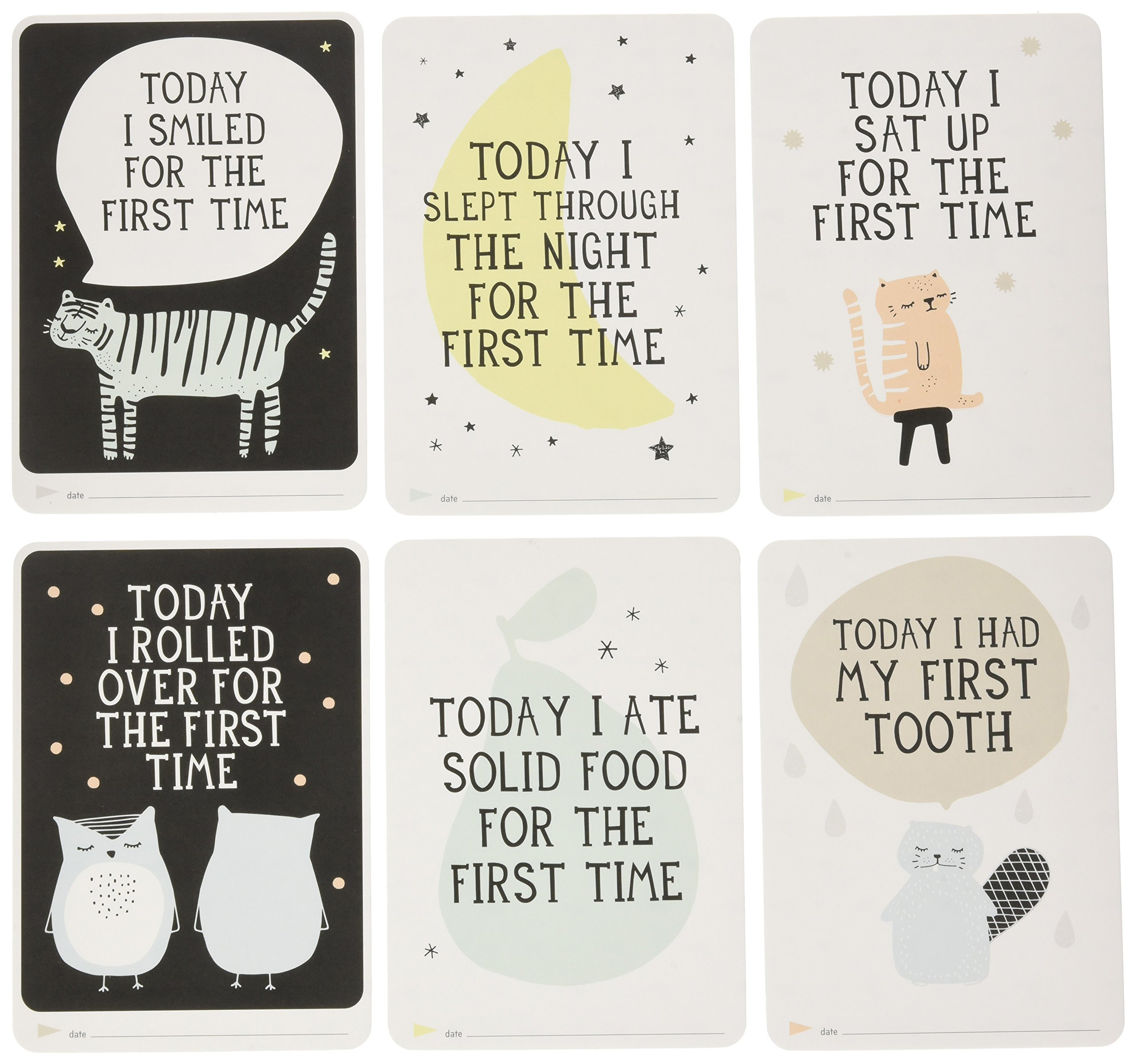 94a4580eef2 Get Quotations · Milestone - Baby Photo Cards Over the Moon - Set of 30  Photo Cards to Capture