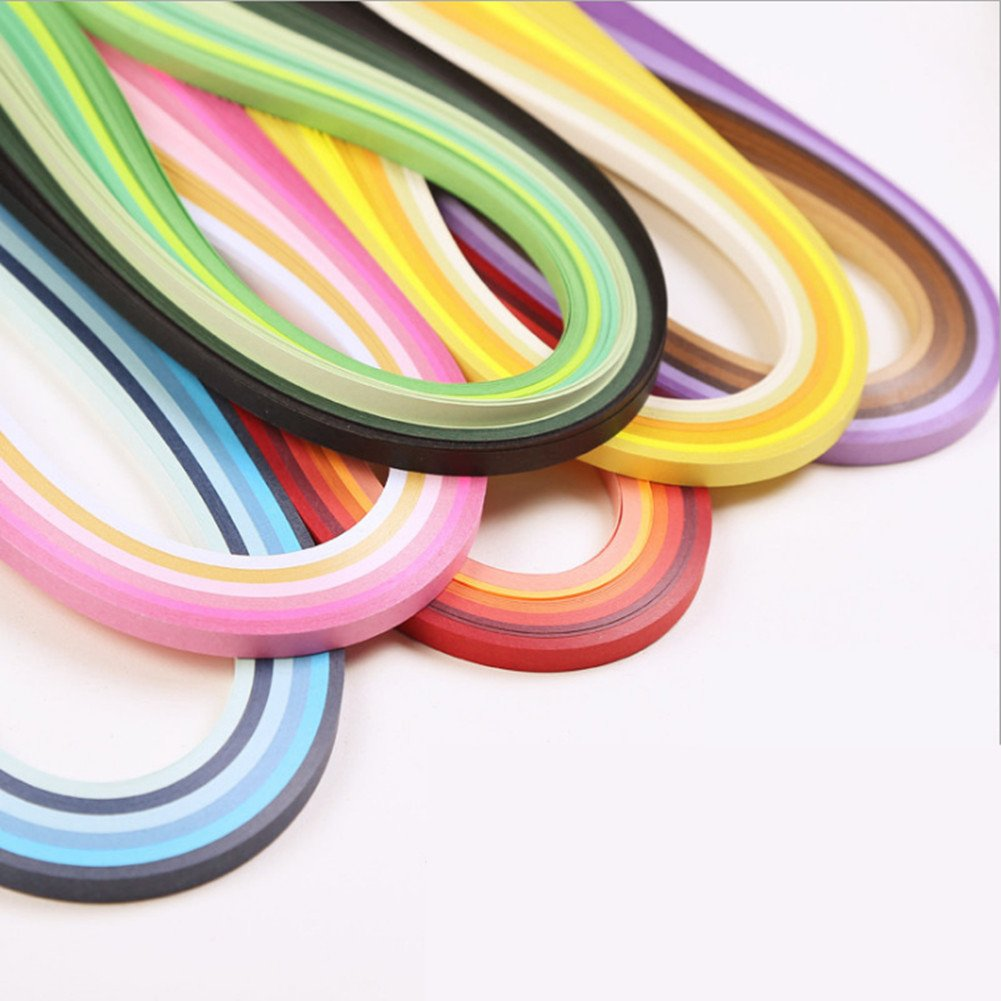 4 Sets in One Pack Length 39cm Width 3mm 5mm 7mm 10mm YURROAD 640 Strips 36 Colors Quilling Paper Strips Kit