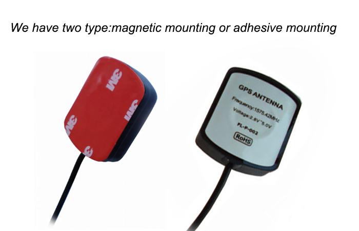 (कारख़ाना) नि: शुल्क नमूने चुंबकीय आधार कार सक्रिय जीपीएस एंटीना 1575.42MHz