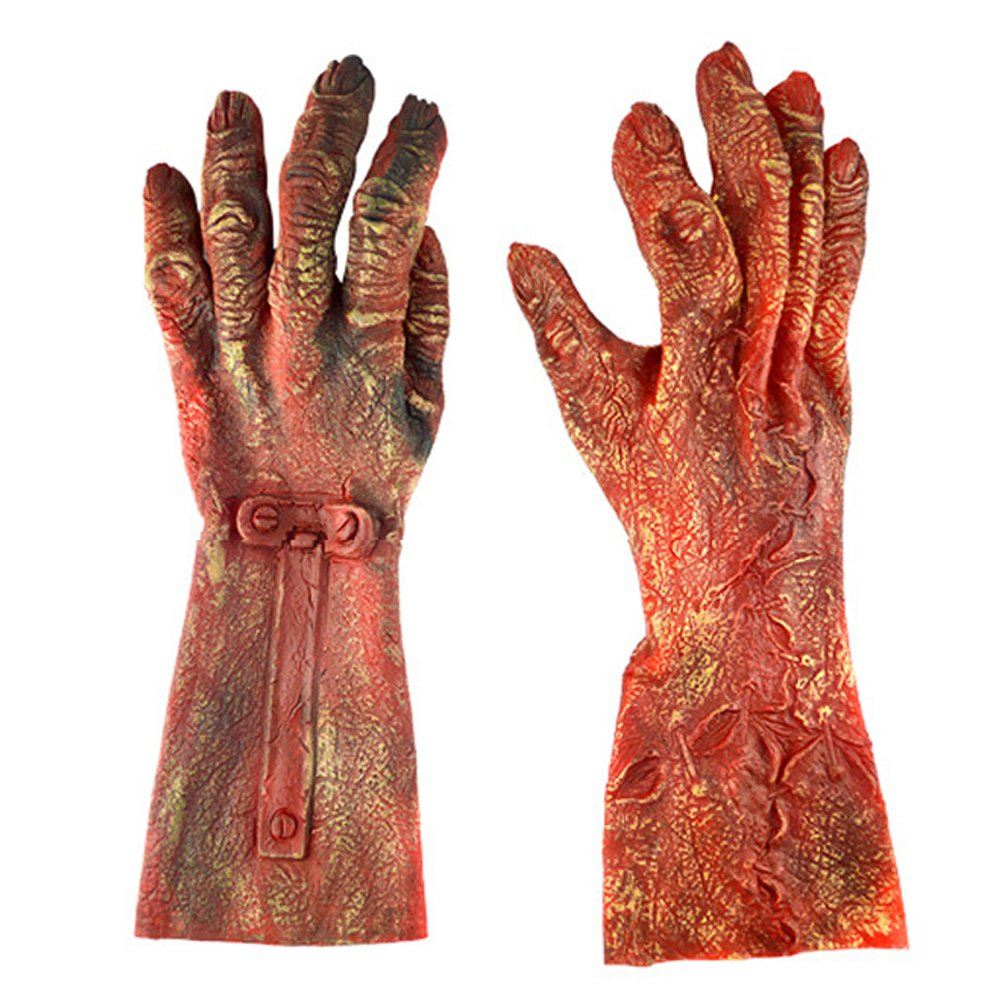 PACOOL Zombie Arms & Hands Halloween Decorations Outdoor Red