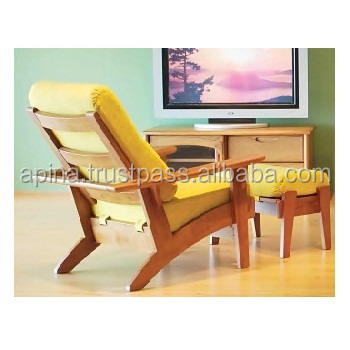 Wooden Recliner Chair and Foot Rest CSF-95(RC) , CSF-95(ST)