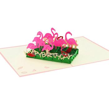 Flamingo Pop Up Tarjeta Hecho A Mano Pop Up Tarjeta De Invitación De Cumpleaños Para Niños Buy 3d Pop Up Tarjeta De Felicitación Animales Pop Up