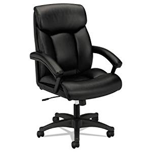 """Very Comfortable Office Desk Chair in Black Color, Chair with Arms, Office Furniture with Casters, Home Desk Chair, Metal Desk Chair, Executive Chair, Bundle with Expert Guide """"Quality in Our Life"""""""