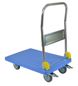 Yee Shiuann High Quality Plastic Foldable Hand Push Trolley Cart