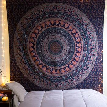 Bleu Fonce De Noel Tapisserie Tenture Murale Pour Chambre A Coucher Salon Mandala Imprime Indien En Gros Tapisserie Buy Tapisserie En Gros Tenture