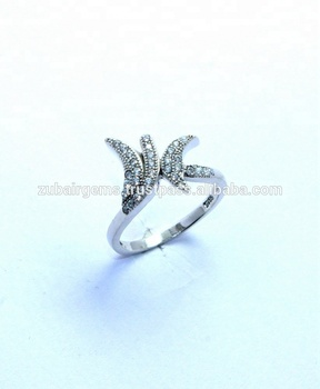 925 Sterling Silver Natural Cubic Zirconia Ring Jewelry