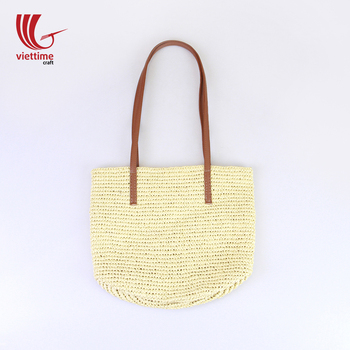 18b1e9fc54f5 Light paper straw beach bag