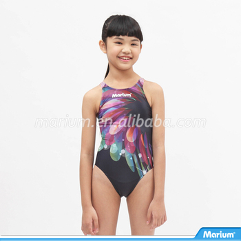 165ed4767922e High Quality Kids One Piece Swimsuit Little Girls Flower Swimming Suit
