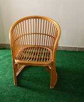 Vintage Boho Rattan Dining Chair