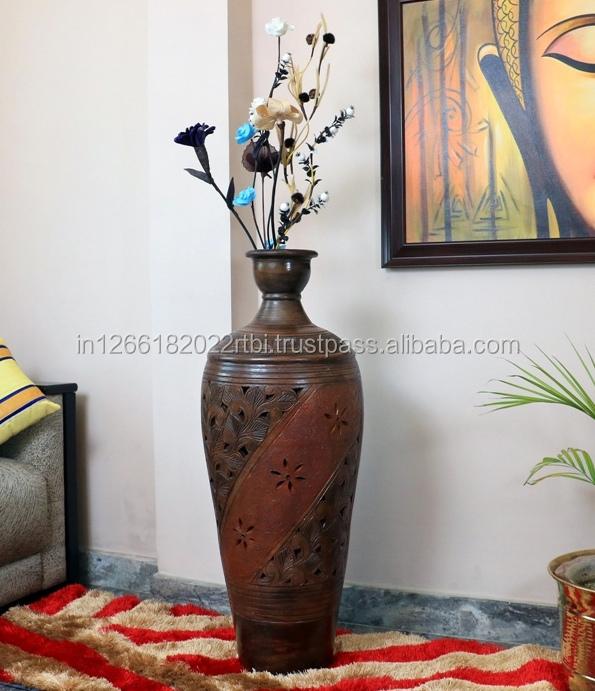 Elegant Handmade Terracotta Floor Vase For Your Office And Homes