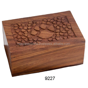 Wood Carved Cremation Funeral Pet Urn for sale