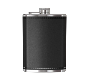 8oz Hip Flask Stainless Steel Leather Wrapped Hip Flask
