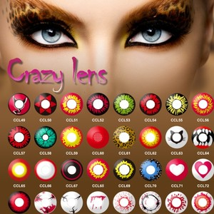 14.5 mm/ 17 mm and Crazy/Wild/Demonic/ Scary Eyes lenses color Fresh Tone soft color contact lenses