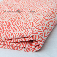 Cotton wooden block sanganeri printed handmade fabric wholesale sewing material