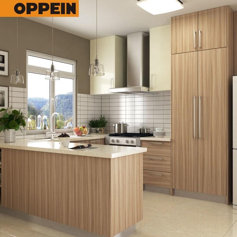 Oppein Melamine U Shape Small Kitchen Cabinets Design For Apartment  Kitchenette - Buy Small Kitchen Cabinets Design,Kitchenette,U Shape Kitchen  ...