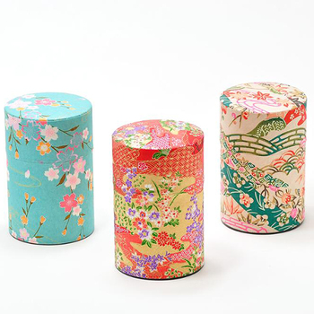 Japan made tea packing box with charming and lovely motif