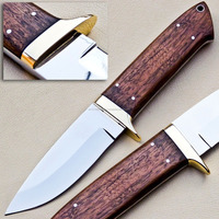 D-2 STEEL SKINNING/HUNTING KNIFE WITH ROSE WOOD HANDLE