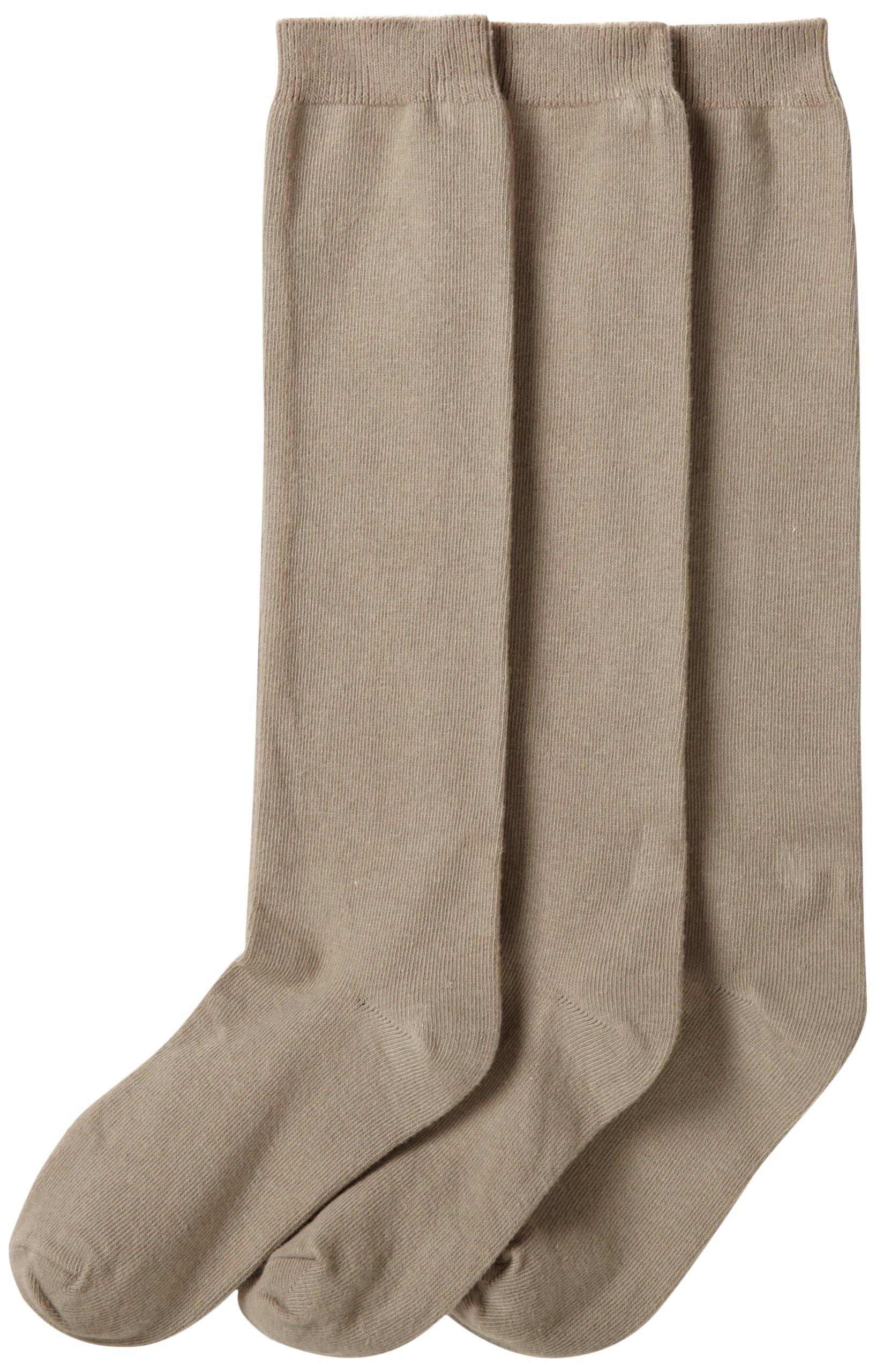 f7f7e79232a Get Quotations · Jefferies Socks Girls  School Uniform Knee-High Sock