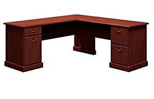 "Bush 72"" L Shaped Writing Desk 30 3/4""H X 72 1/4""W X 72 1/4""D Work Surfaces 72.25"" X 23.13"" & 42.25"" X 24""  - Harvest Cherry"