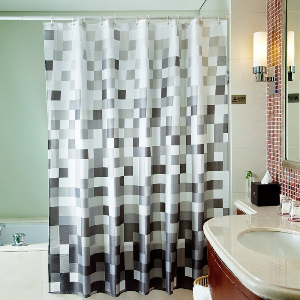 Get Quotations Uphome 72 X 78 Inch Fashion Grey Cube Pattern Ombre Bathroom Shower Curtain