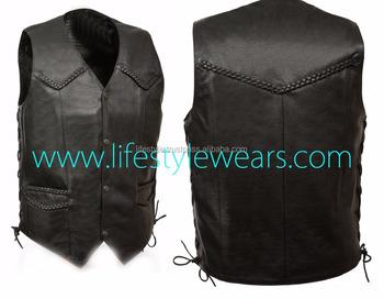 c8fbe513ca Coletes de couro personalizado padrão colete de couro colete de couro traje  colete de couro patchwork