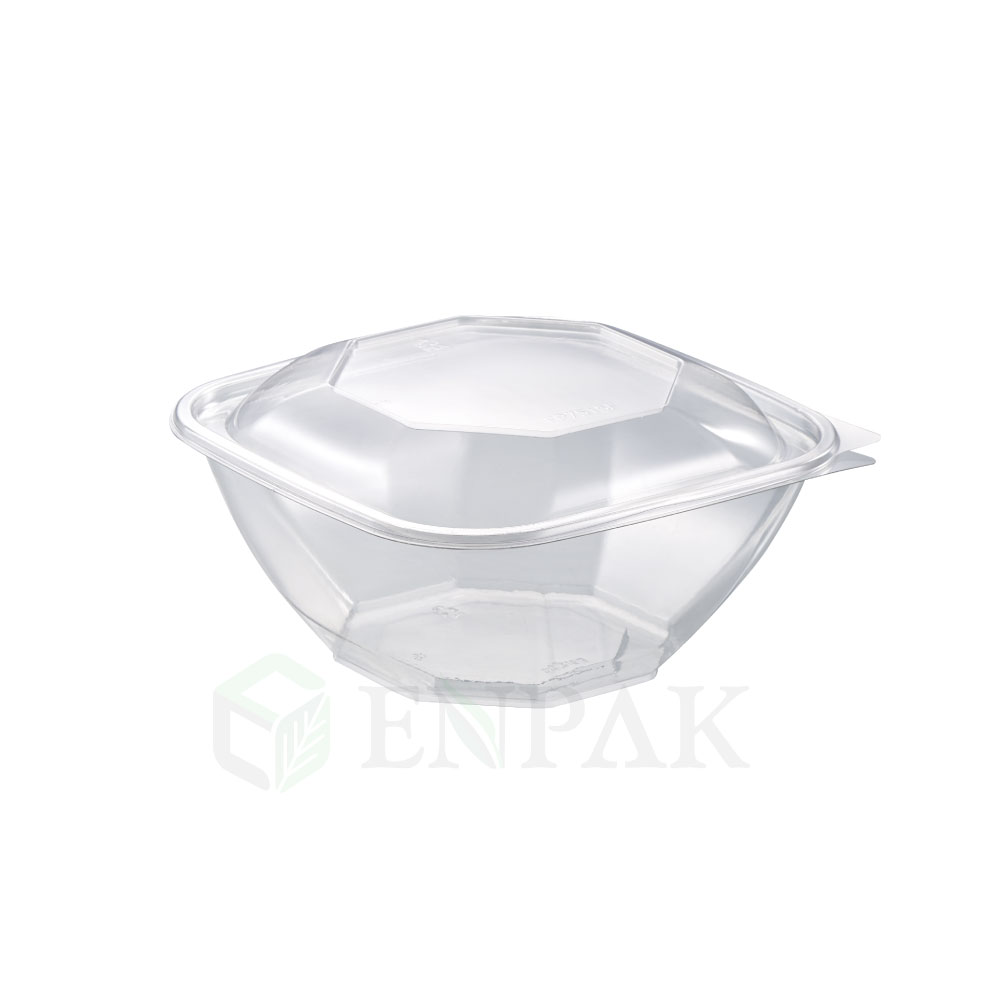 Clear Plastic box Disposable Salad Bowls with Lids