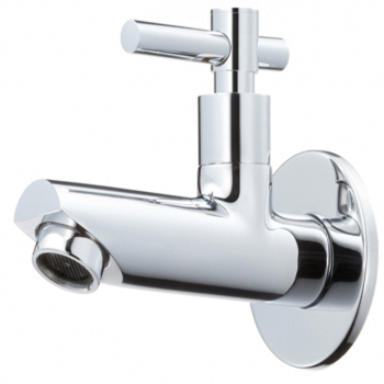 Long Body Wall Flange With Bib Cock Faucet -Lycos