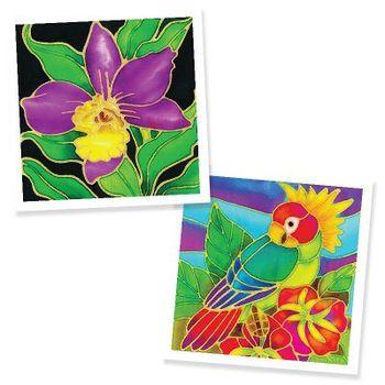 Kotak Diy Handmade Lukisan Batik 2 In 1 Kit Anggrek Bunga Dan