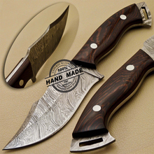 Speciale <span class=keywords><strong>Groothandel</strong></span> Custom Handgemaakte Damascus Staal <span class=keywords><strong>Jacht</strong></span> Skinner Mes NE 649