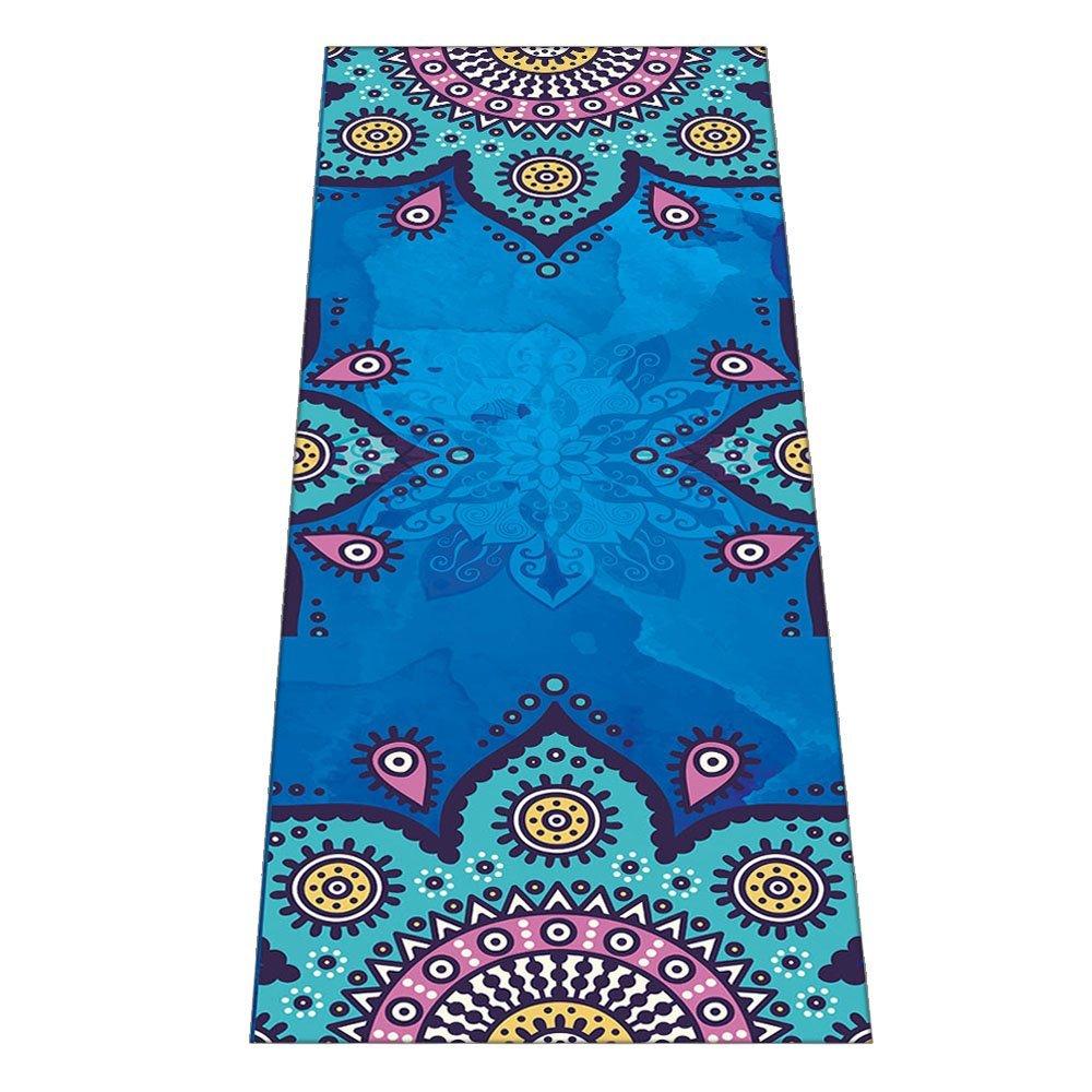 """Yoga Towel - (26""""x71"""") - Microfiber Hot Yoga Towel Mat to Improve Your Grip - Perfect for Lizimandu Yoga Towel, Ashtanga Yoga Towel, Hot Yoga Towel - Non Slip, Skidless If Dampened"""