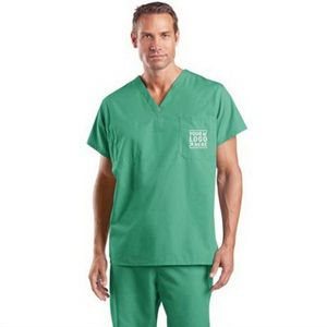 CornerStone Reversible V-Neck Scrub Top - 65% polyester & 35% cotton, has chest pockets on both sides and comes with your logo