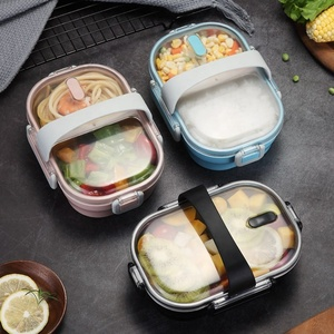 New design portable school 304 stainless steel bento lunch box leakproof kids lunch box with 2 compartment