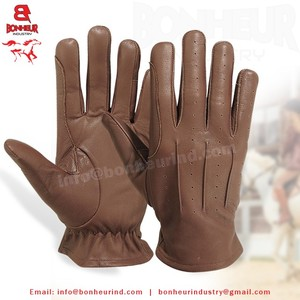 Top quality leather horse riding gloves comfortable equestrian gloves for men women