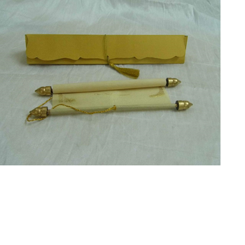 Blank Scroll Invites Available With Scroll Rods Tassels Un Printed