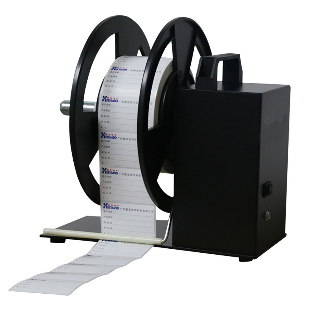 QQTCW Series Label Rewinder Machine Automatic Label Rewinder Speed Adjustable Label Printer Rewinding Machine Digital Tag Rewinder (Maximum rewind: 9cmwidth)