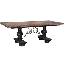 Indonesia Furniture - Milan Mahogany Rustic Vintage French Carving Dining Table Furniture