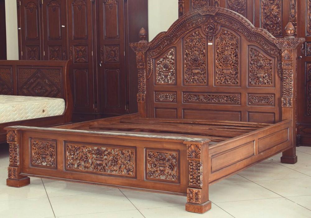 Bedroom Wood Furniture Carving Indonesia Furniture - Buy Solid