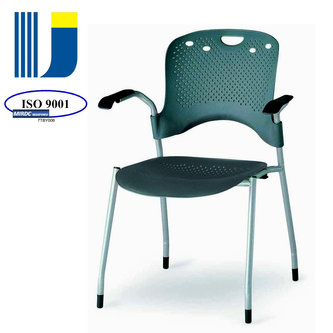 Modern metal frame stackable waiting plastic office stacking chair for training/waiting/meeting 33A-P9